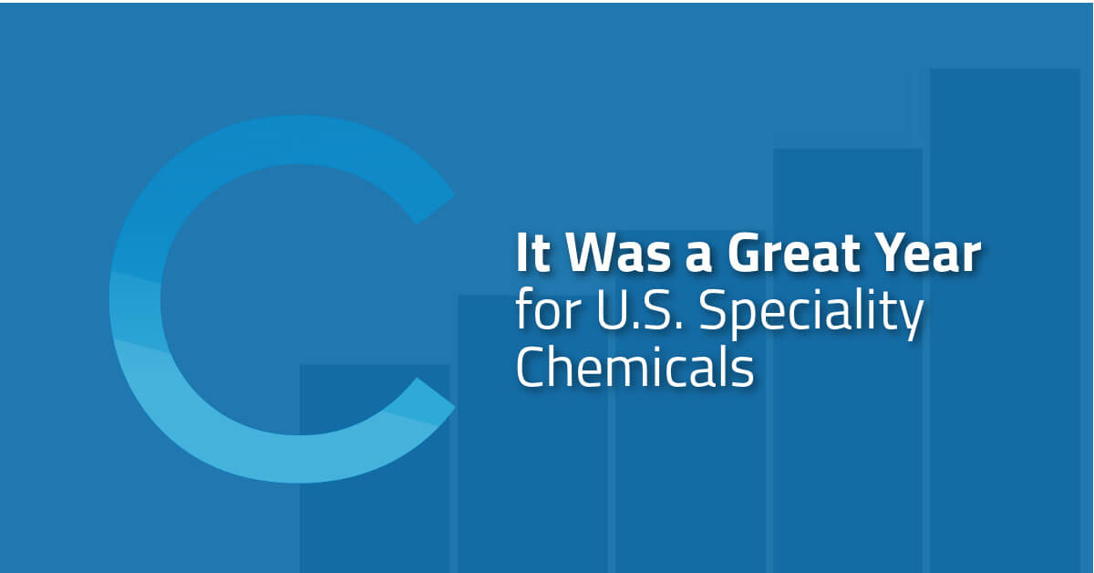 It Was a Great Year for U S  Speciality Chemicals - Coast